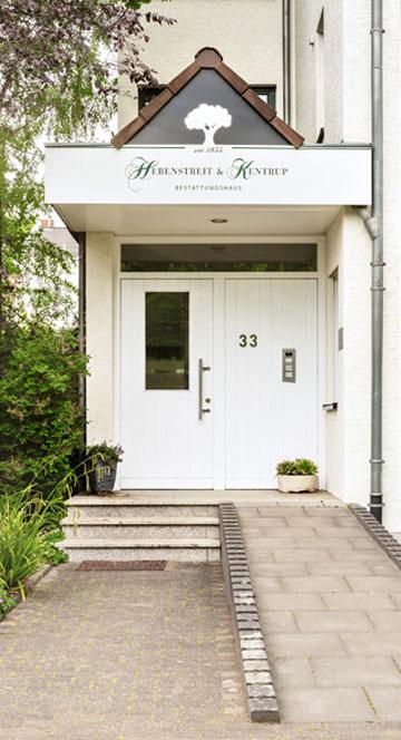 Hebenstreit Kentrup, Bestatter, Beerdigungen, Sarg, Urne in Bonn: Eingang